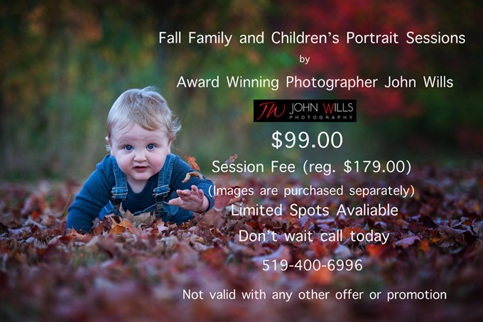 Fall Family Portraits in Kitchener and Guelph