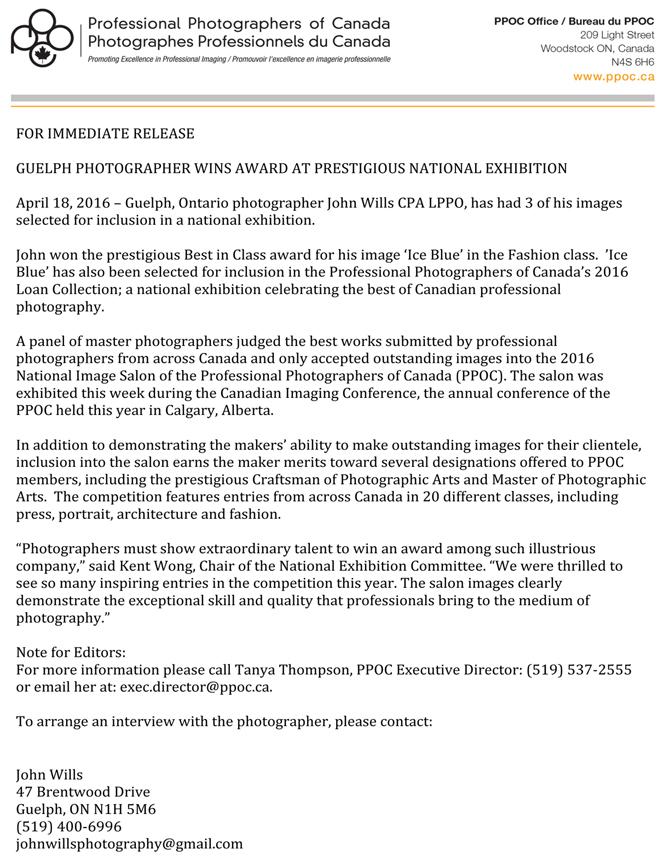 Kitchener Fashion Photographers