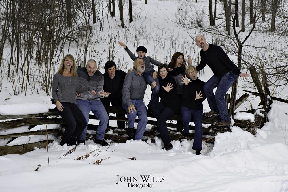 Family Photos in the Snow Guelph